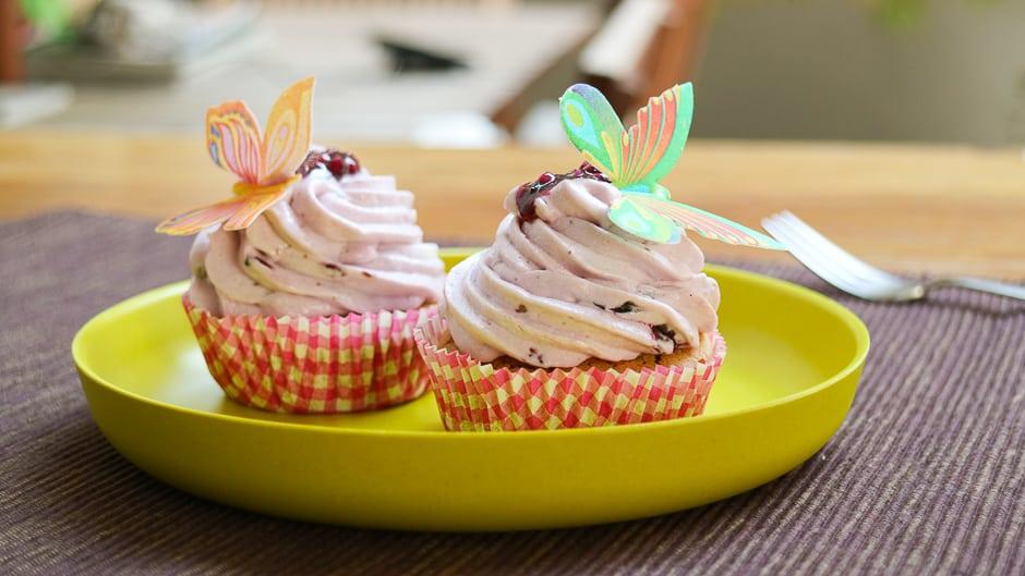Heidelbeer Cupcakes gelingsicher zubereiten