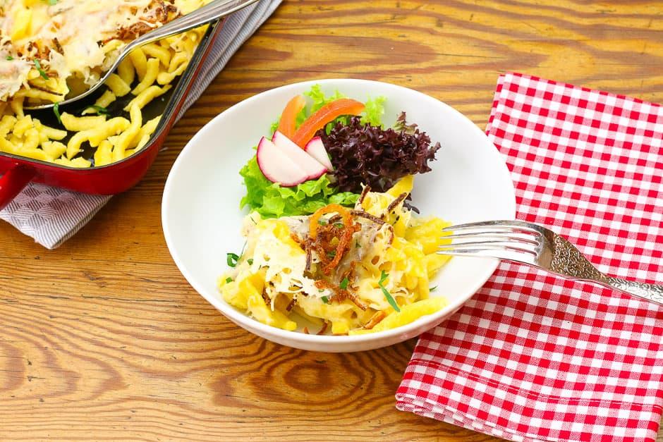Käsespätzle Rezept von Kochprofi Thomas Sixt.