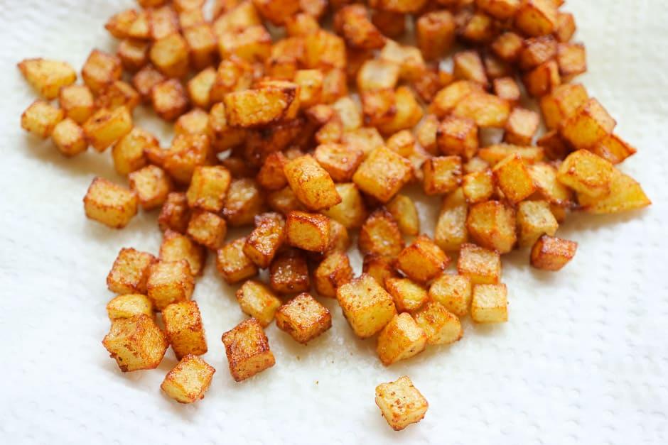 Frittierte Kartoffelwürfel