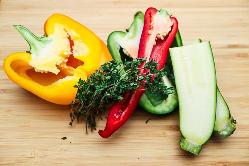 Vorbereitetes Gemüse