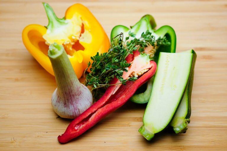 Gemüse für Ratatouille