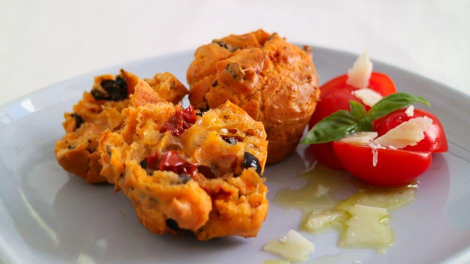 Tomaten-Oliven Muffins