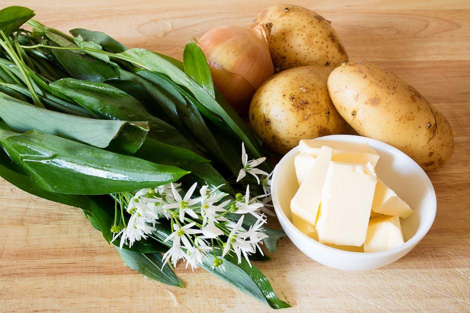Zutaten Bärlauchsuppe mit Fisch und Gemüse