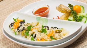 Couscous einfach mit Gemüse Rezepte Bild.