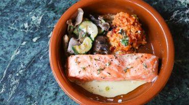 Lachs im Backofen Zubereiten Kochrezept Bild