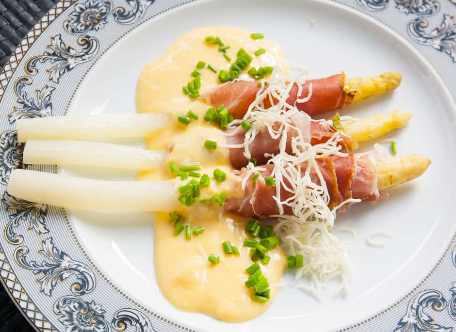 Recipe picture asparagus with ham