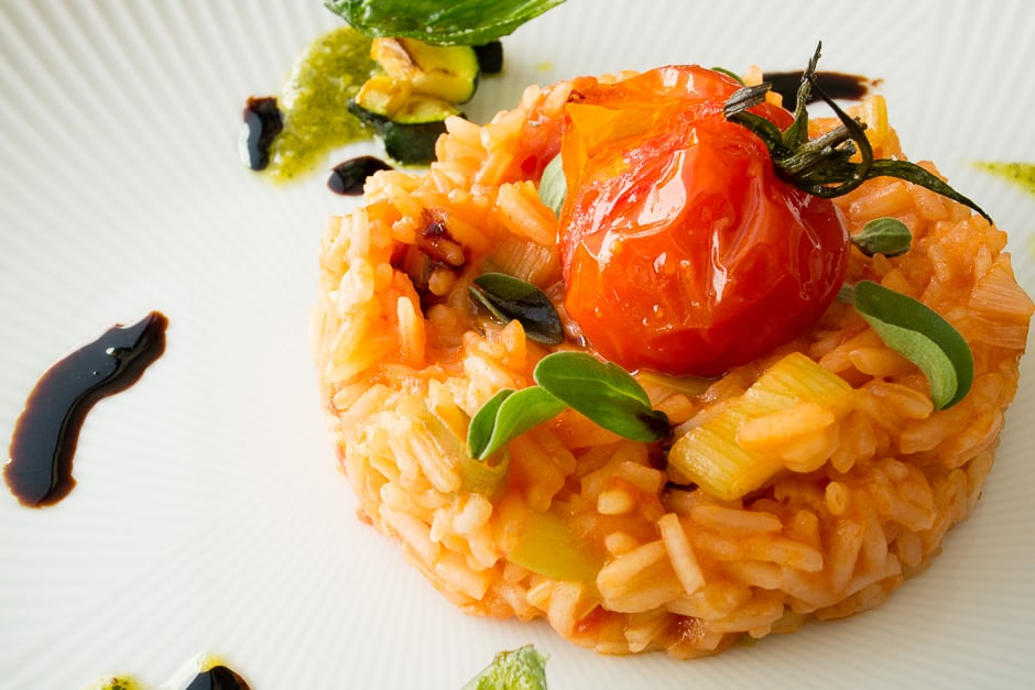 Close-up tomato rice.