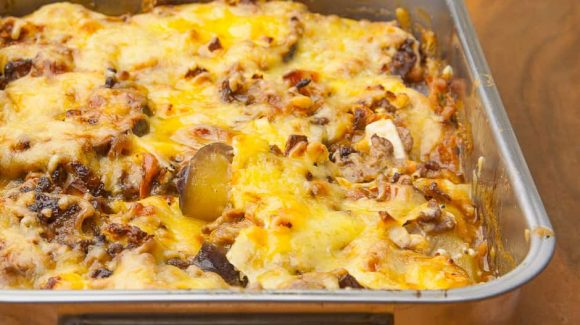 Moussaka from the oven