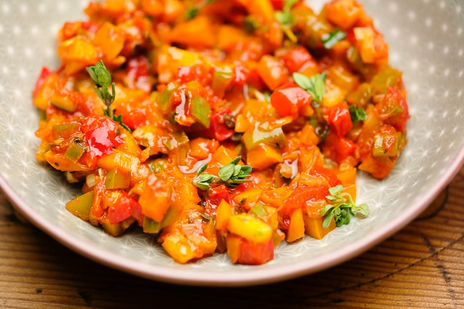 Ratatouille Gemüse zubereitet nach Art der Provence.