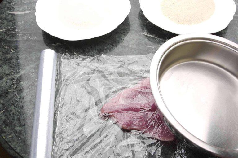 Schnitzel plattieren