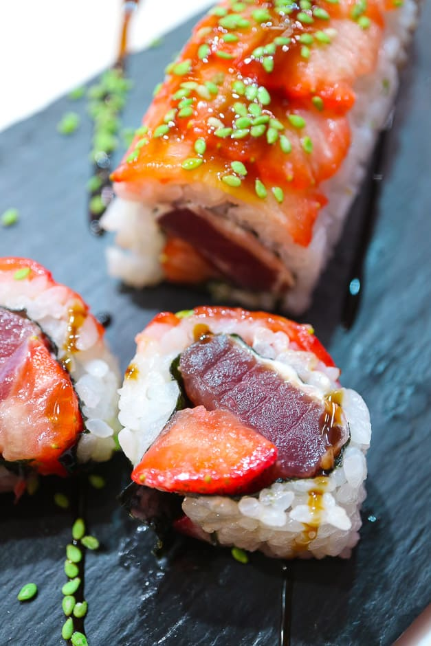 Tuna Sushi with Strawberries