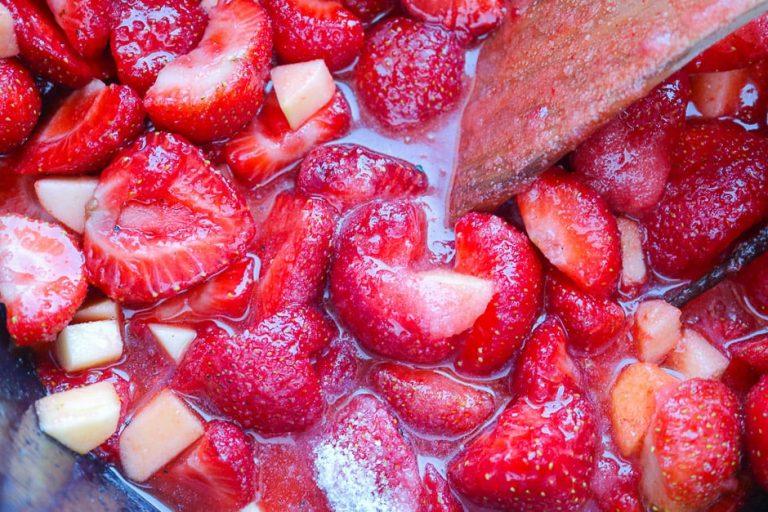 Aufkochen der Marmelade