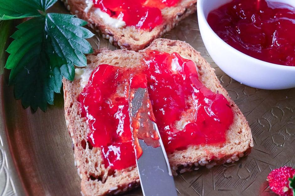 Erdbeermarmelade Brot
