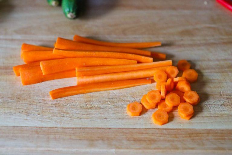 Karotten vorbereiten