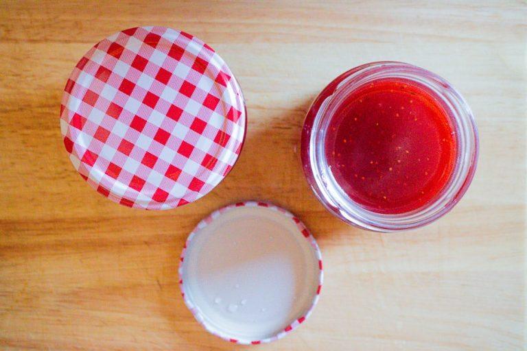 Marmelade einfüllen