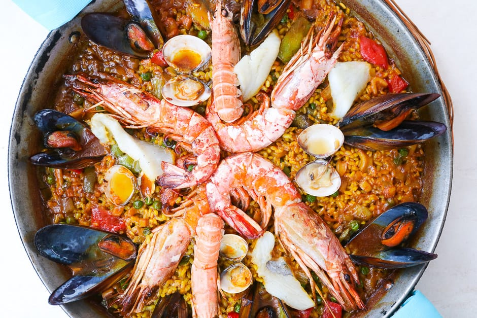 Original Paella from Spain, Recipe from Mallorca Monastery Santuari De Lluc