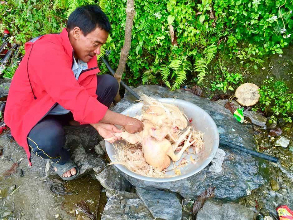 Huhn schlachten