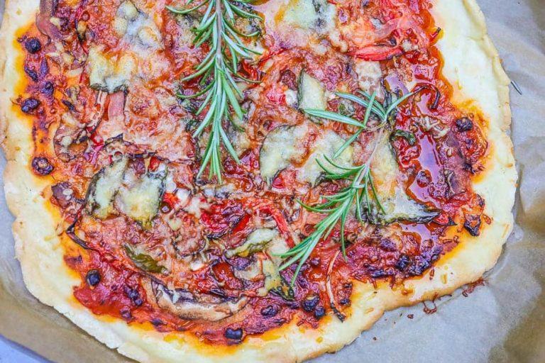 Gemüsepizza Backblech
