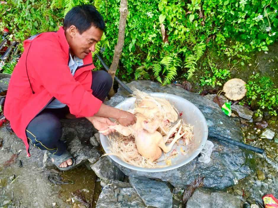 Huhn frisch geschlachtet