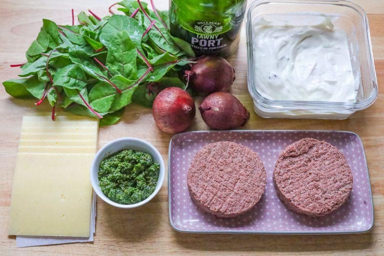 Zutaten vegetarische Burger