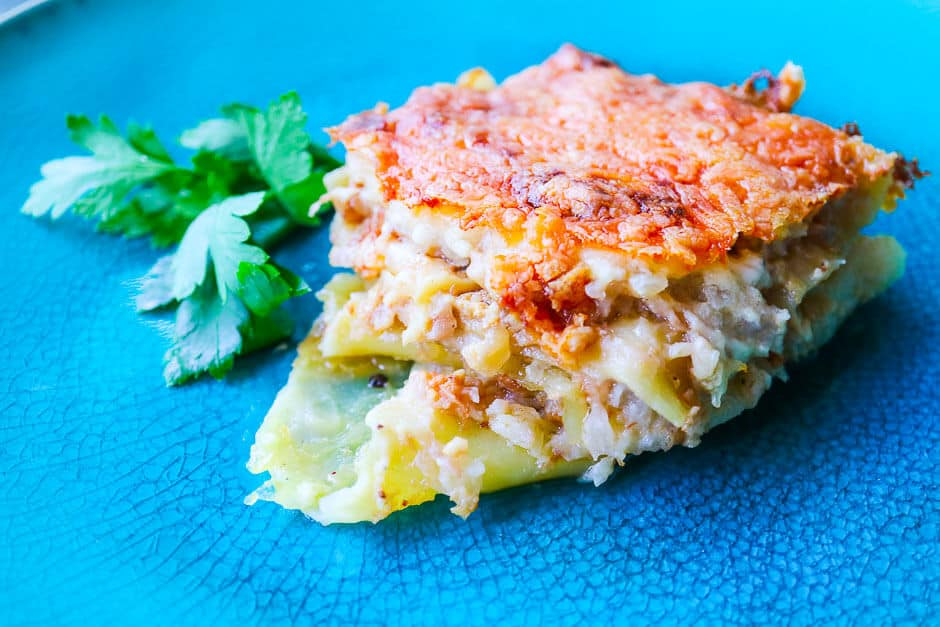 Prepare Cauliflower Casserole as vegetarian Lasagne, Recipe with many Tips