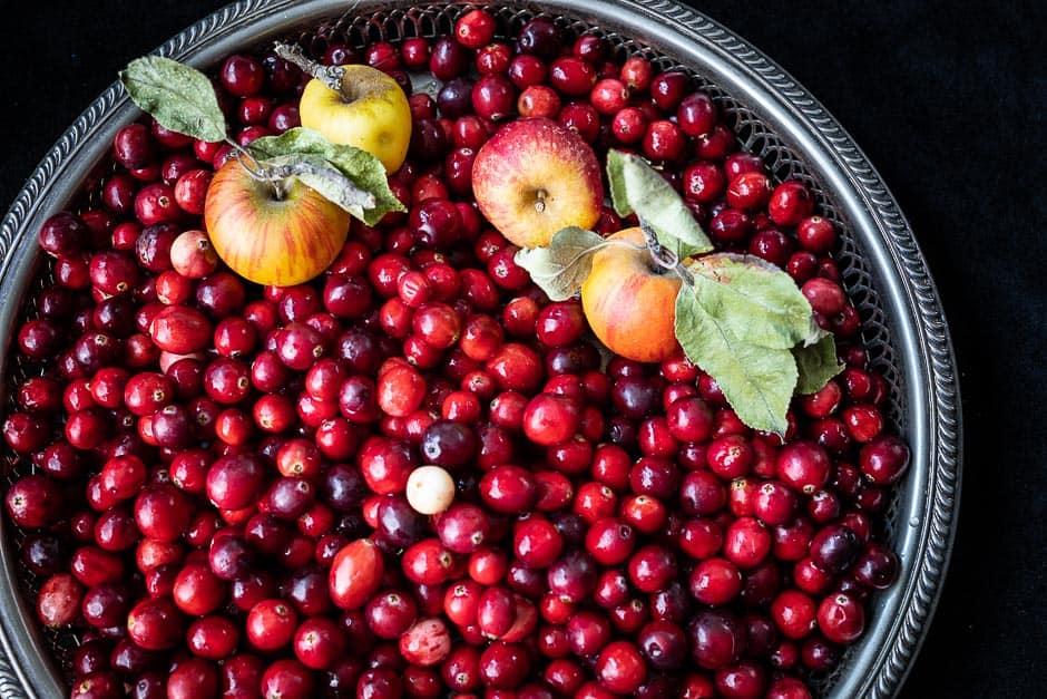 Cranberries und Äpfel