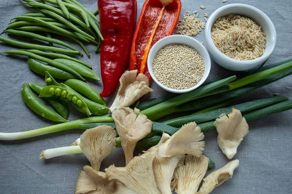 Zutaten vegetarisch gefüllte Paprika