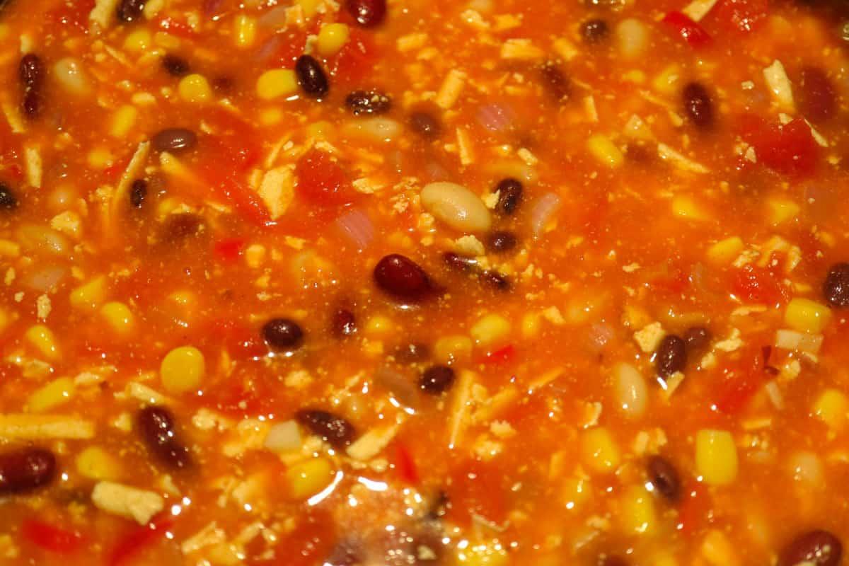 Chili sin Carne im Topf