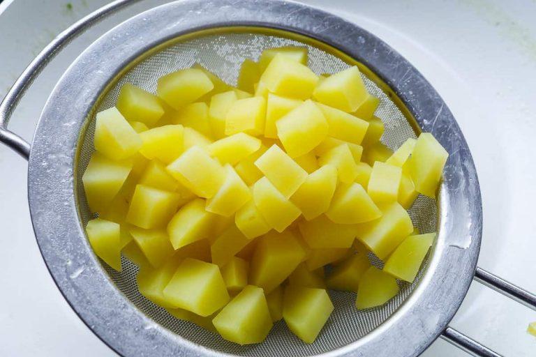 Kartoffelwürfel gekocht