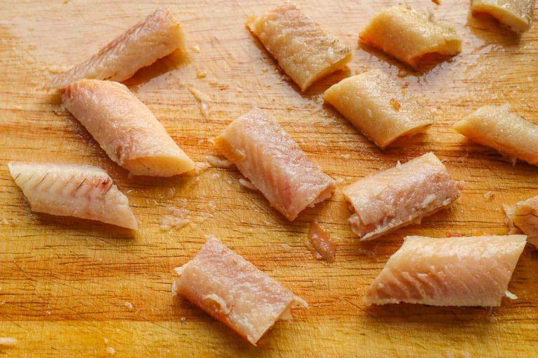 Aalfilets portionieren