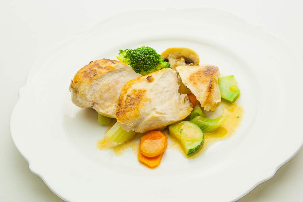 Chicken with Vegetables, a Low Carb Recipe for fast Food