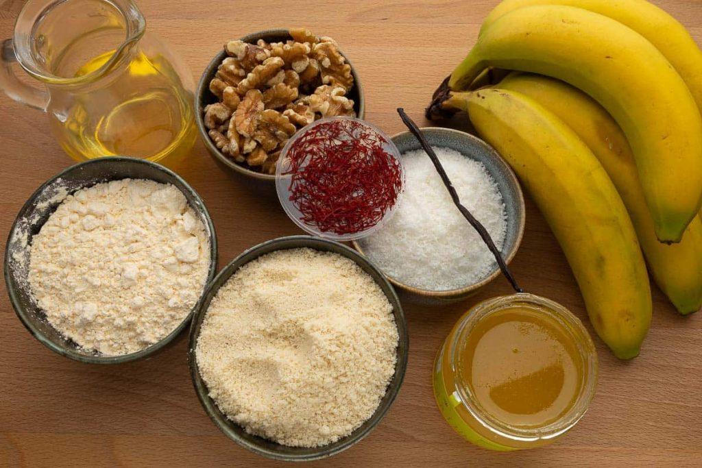 Zutaten Bananenkuchen