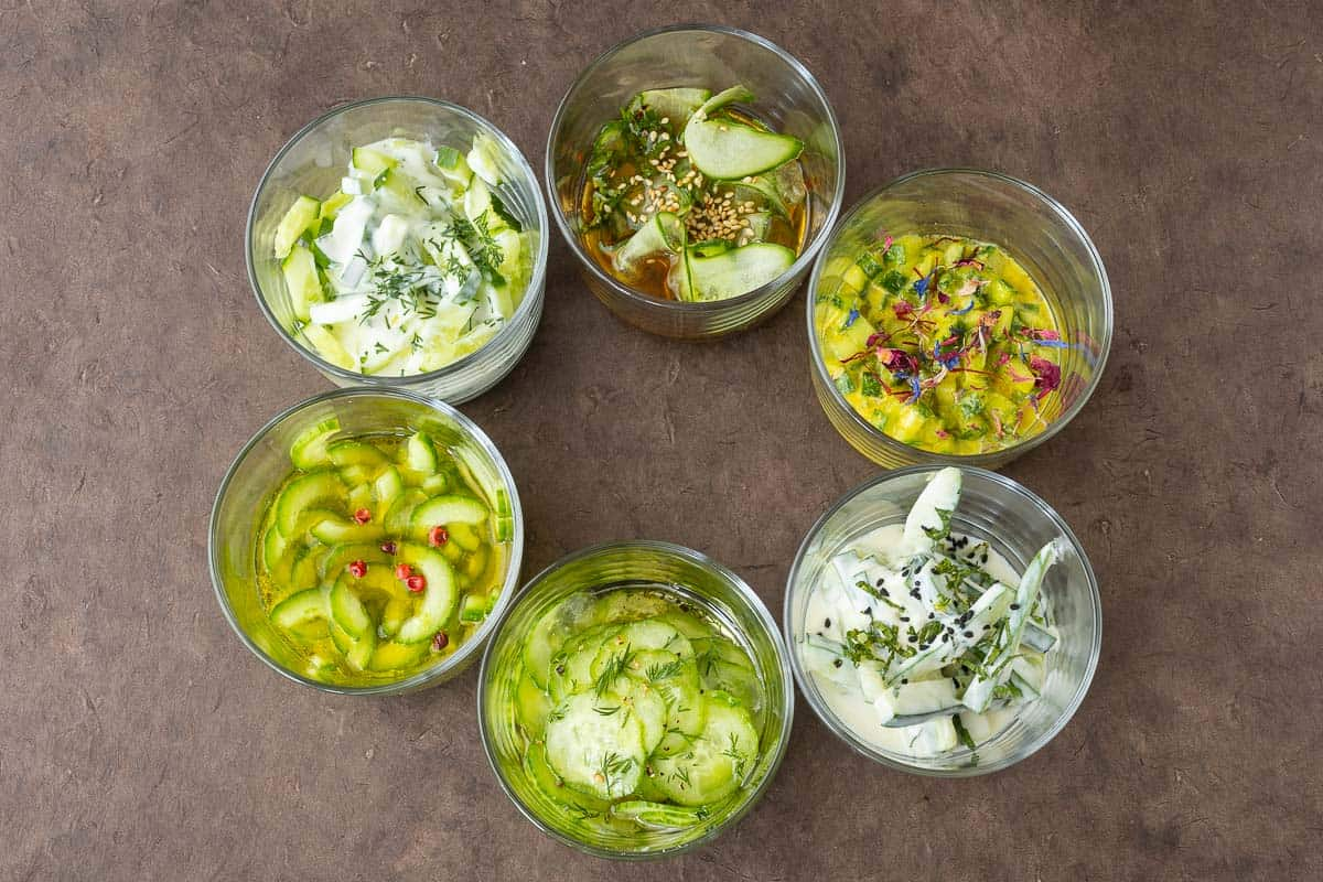 Cucumber Salad Recipe with 6 Variations