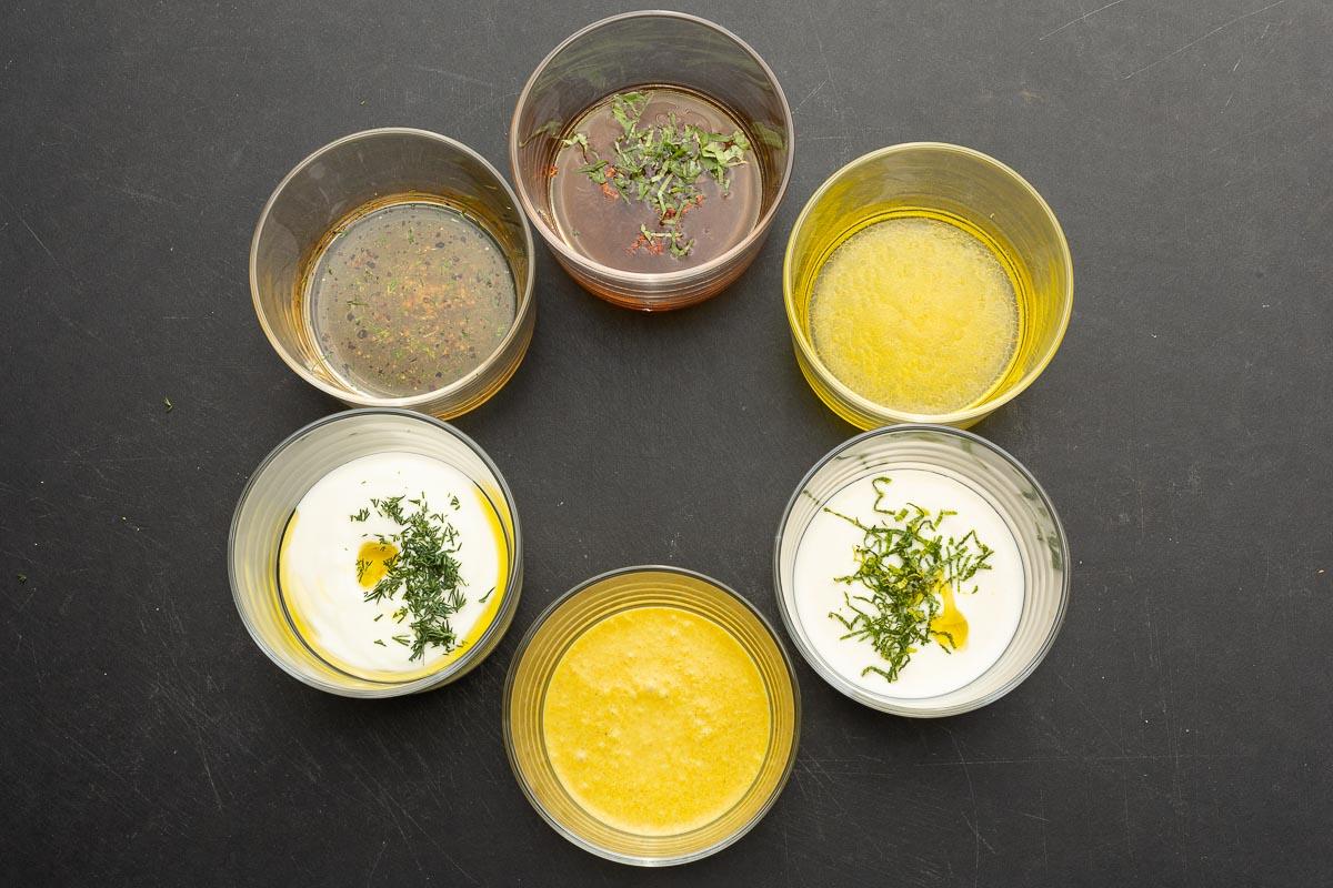 Salatdressings für Gurkensalat