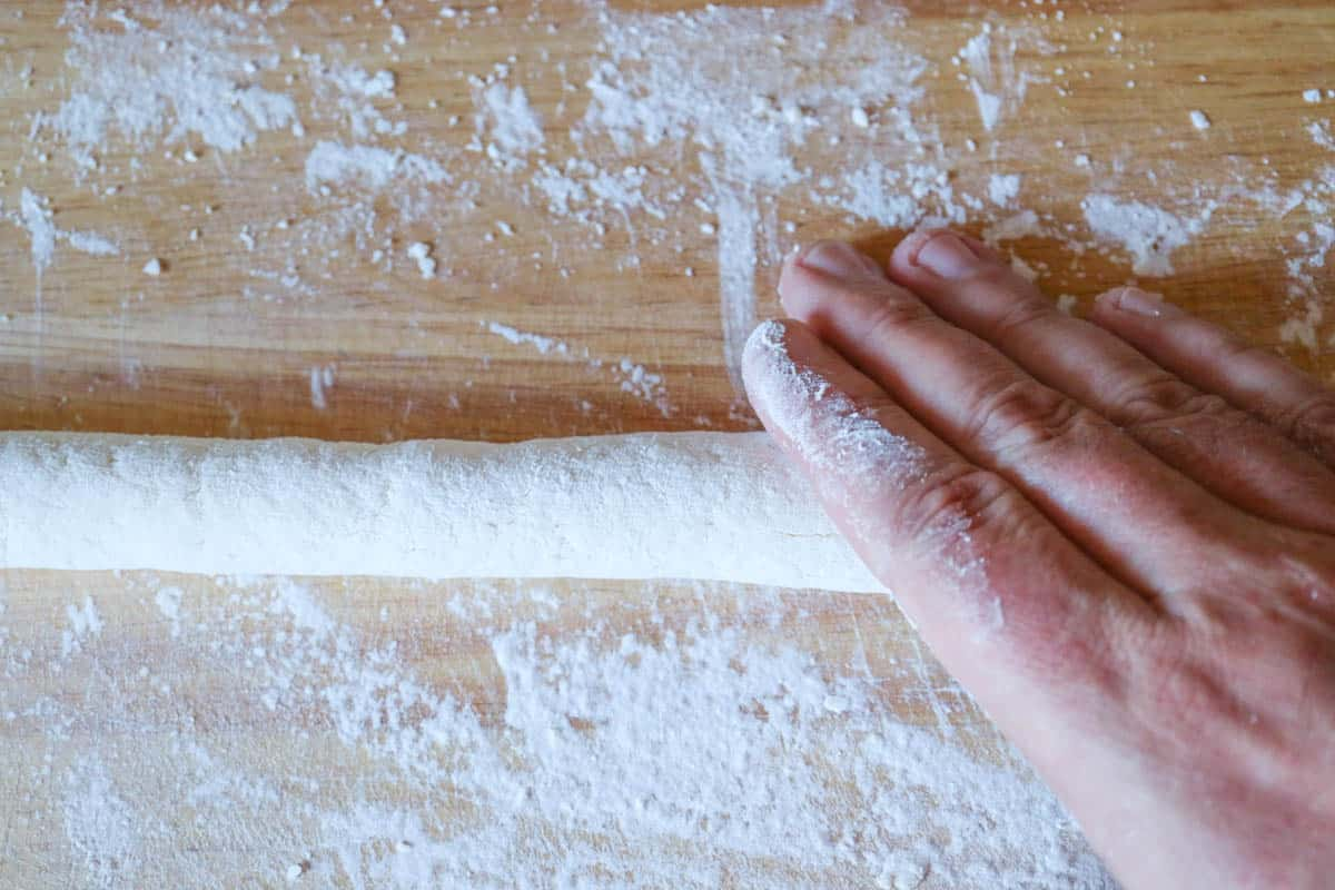 Gnocchiteig-Rolle