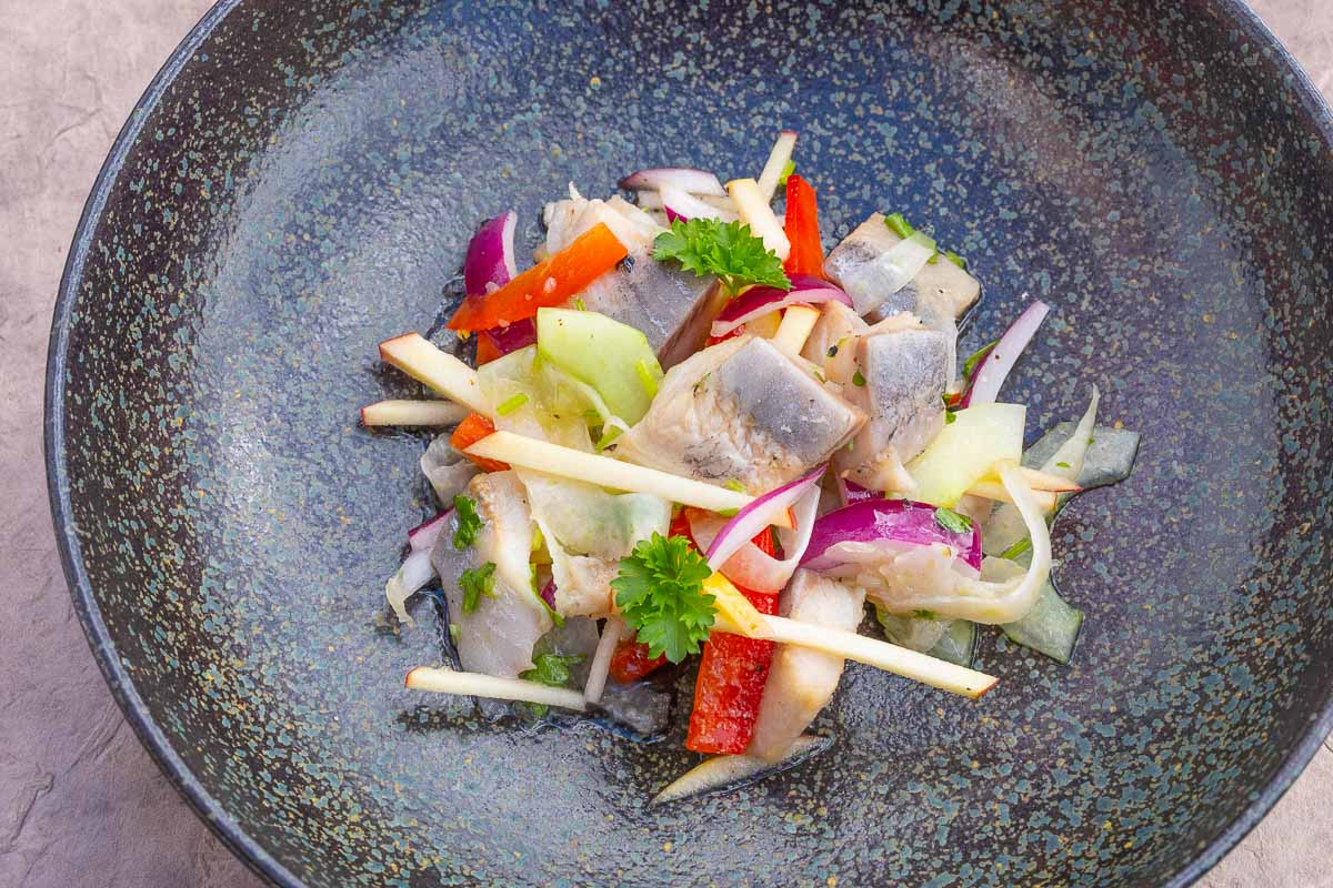 Fish Salad Recipe with fine Matjes or Bismarck Herring