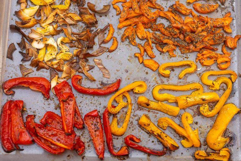 Gemüse nach dem Backen im Ofen