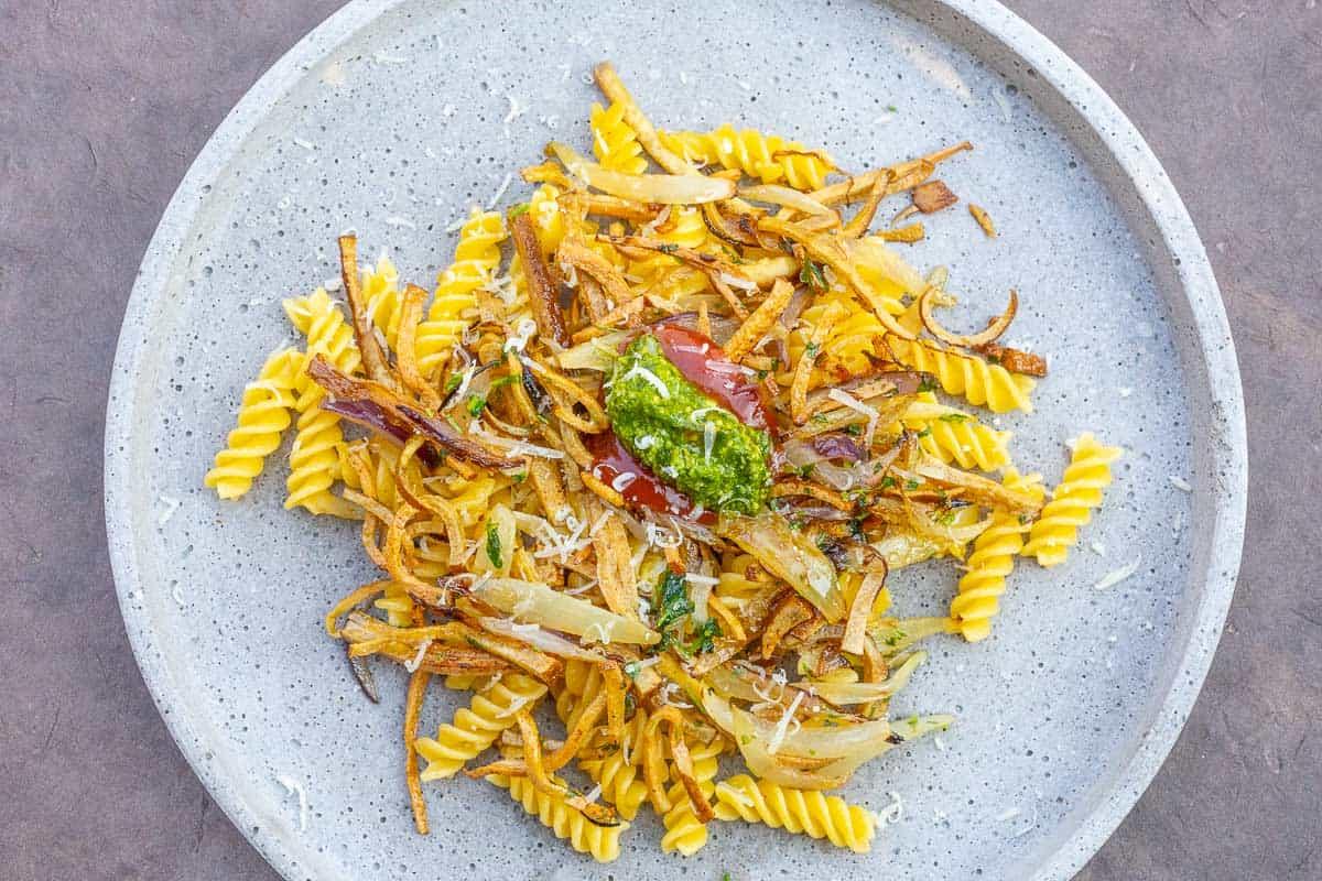 Ham Noodles vegetarian, a simple Pasta Dish
