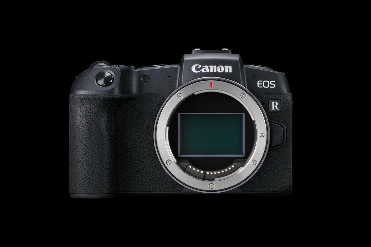 Canon EOS RP Kamera Frontansicht Sensor sichtbar