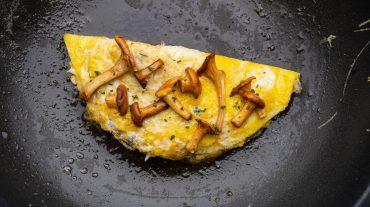 omelett mit Pilzen Rezept Bild