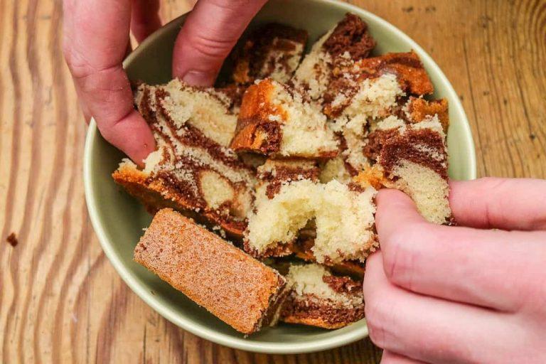 Marmorkuchen als Basis für Cake Pops