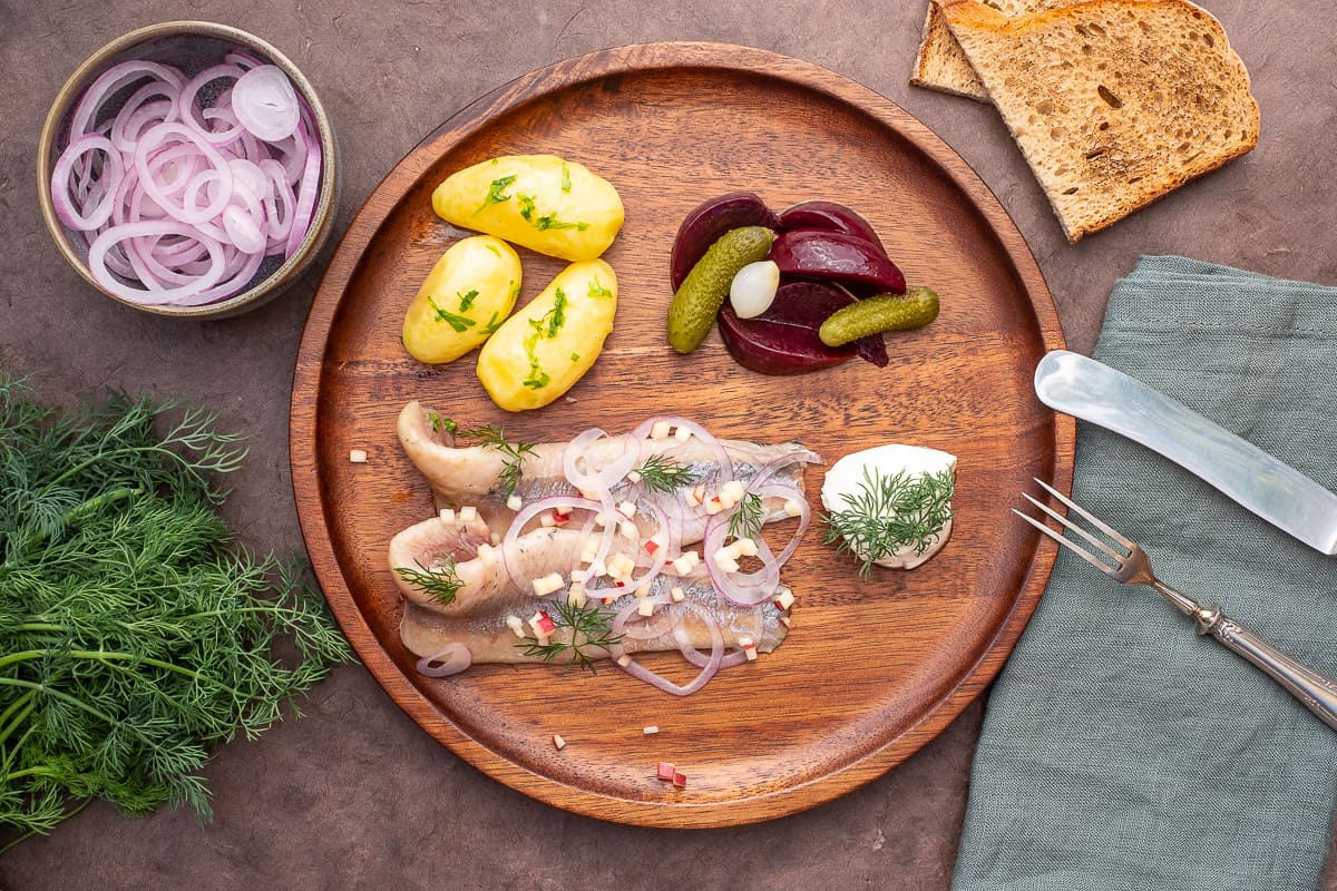 Matjes, young pickled Herring Housewives Style