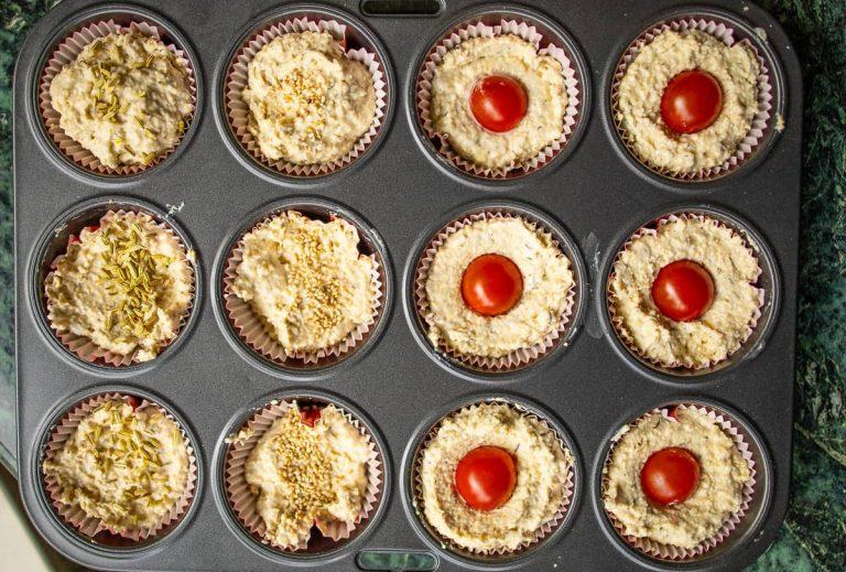 Muffins Teig in formen