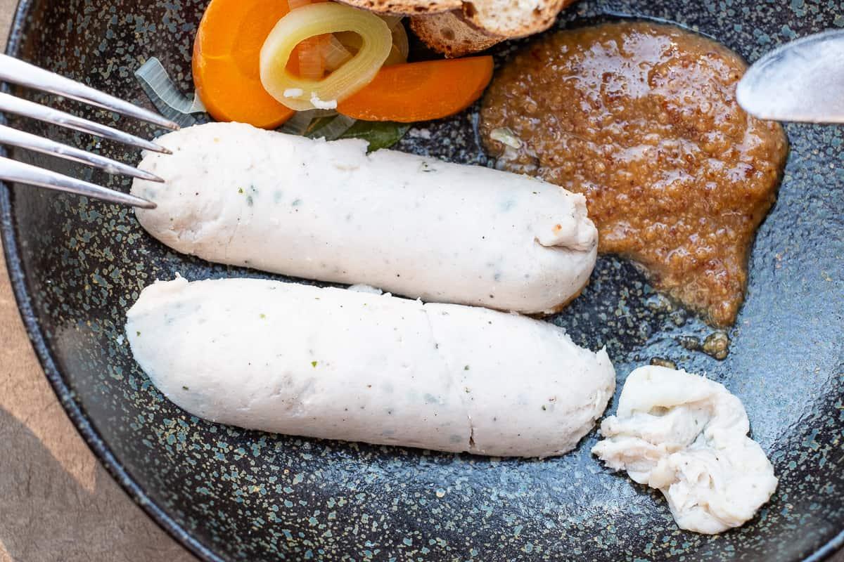 Weißwurst ohne Haut