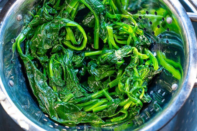 blanchierter Spinat