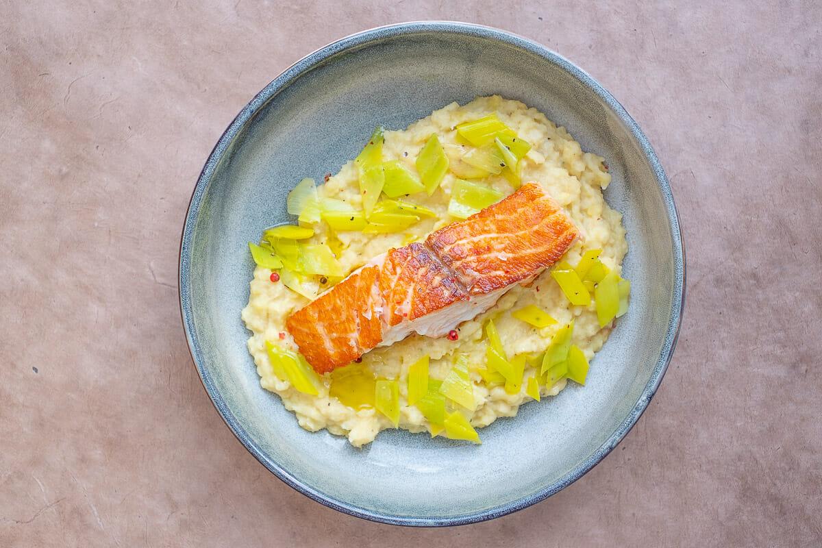 Pannfisch mit Pastinakenpüree, genial einfacher Lachs braten Quickie