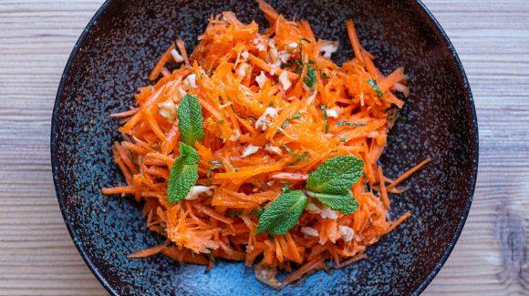 Karottensalat Nahaufnahme