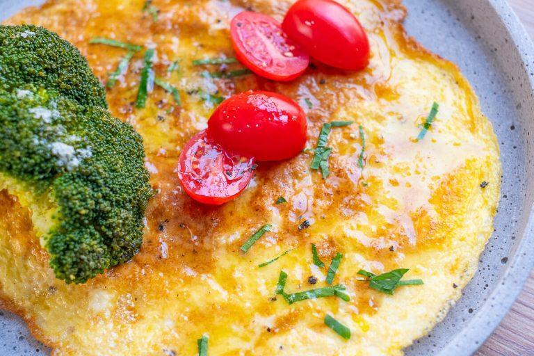 Omelett Nahaufnahme