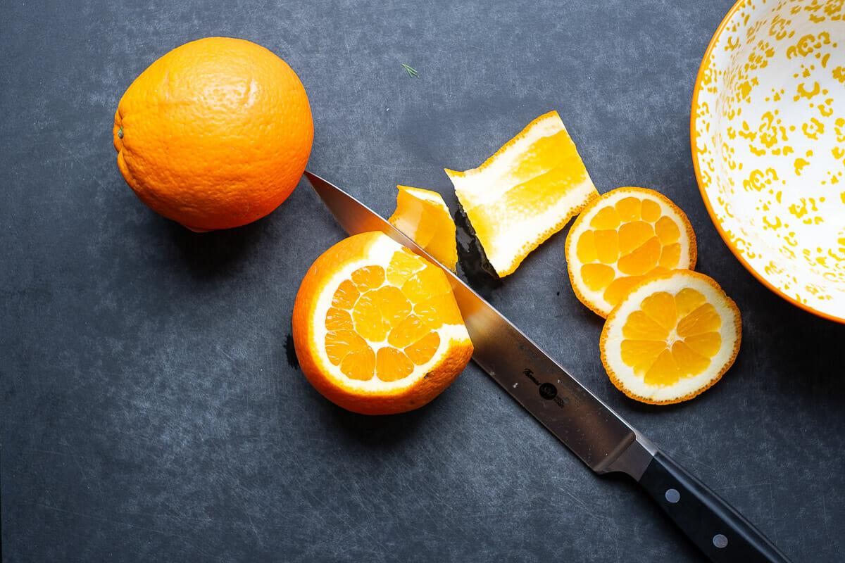 Orange schälen Schnittführung