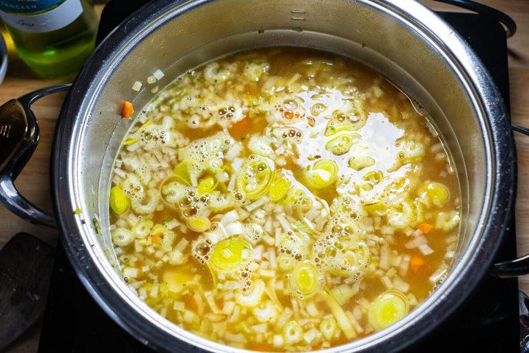 Suppe mit kochen